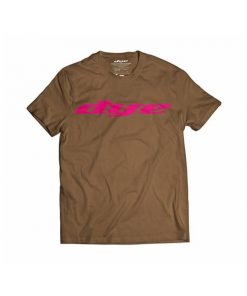 camiseta-t-shirt-dye-logo-brown-pink-paintball-store-paintball-online-paintballonline-loja-de-paintball